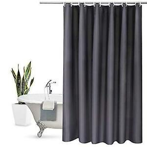 Aoohome Stall Shower Curtain 36 X 72 Inch Solid Fabric Bathroom For