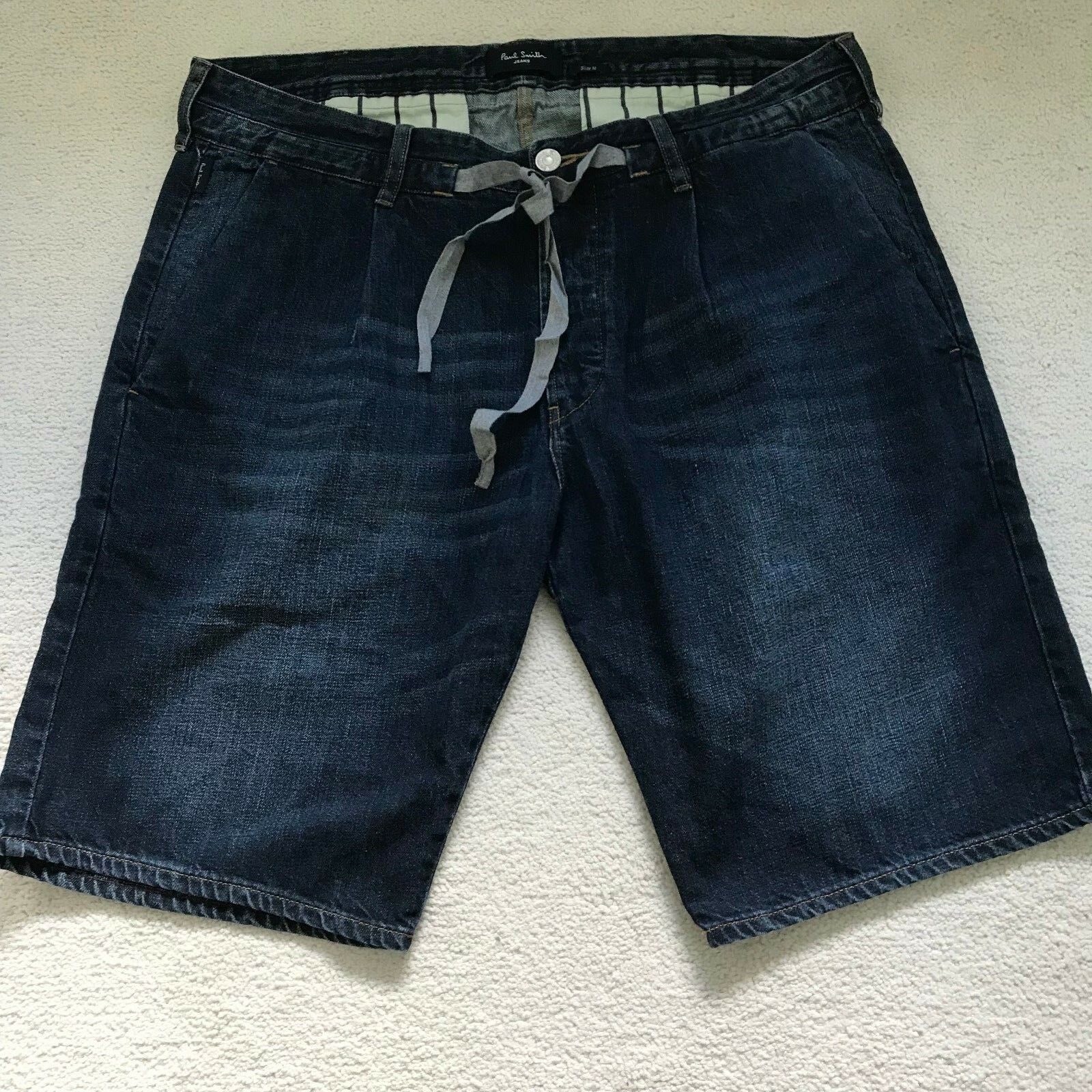 PAUL SMITH Slim Fit Pleated Shorts with tie cord - Size 32R