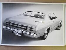 "12 By 18"" Black & White PICTURE 1970 Plymouth Duster 2 Door Hardtop rear view"