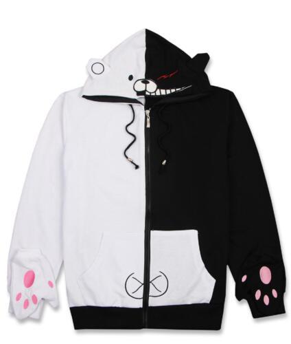 Danganronpa Monokuma Hoodie Sweatshirt Jacket Coat Anime Tops Cosplay Costume
