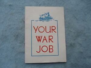 WWII-US-Home-Front-Flyer-Your-War-Job-Stay-Healthy-Anthem-Blue-Cross-WW2