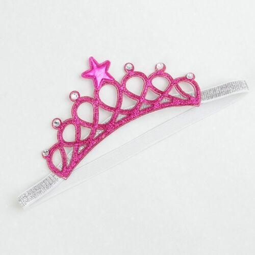 Crown Headband Princess Tiara Child Party Hair Accessory Silver Gold Pink Blue