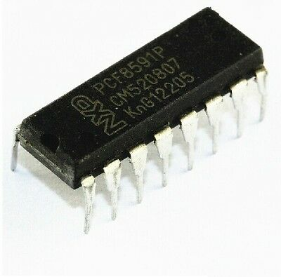 1PCS PCF8591P PHILIPS DIP-16 IC 8-bit A/D and D/A converter NEW GOOD QUALITY