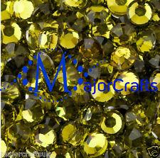 3000pcs Olive Green 2mm ss6 Flat Back Resin Rhinestones Diamante Craft Gems C10