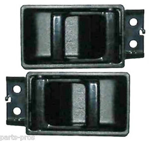 New Inside Door Handle Black Pair For Nissan Pathfinder D21 Hardbody