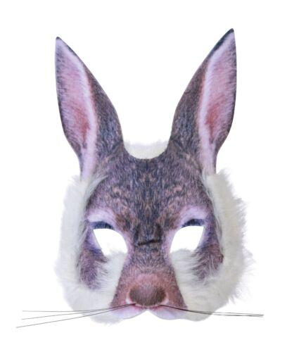 Bunny visage réaliste fourrure Masque Pour Les Animaux /& Nature Fancy Dress Party