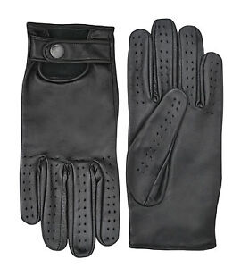 Soft-Leather-Classic-Retro-Driving-Gloves-Fashion-Dressing-Unlined-Limo-Driver