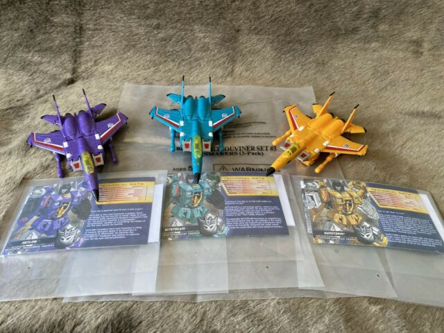Transformers Botcon 2013 Souvenir set #3 Rainmakers Sunstorm Hotlink Bitstream