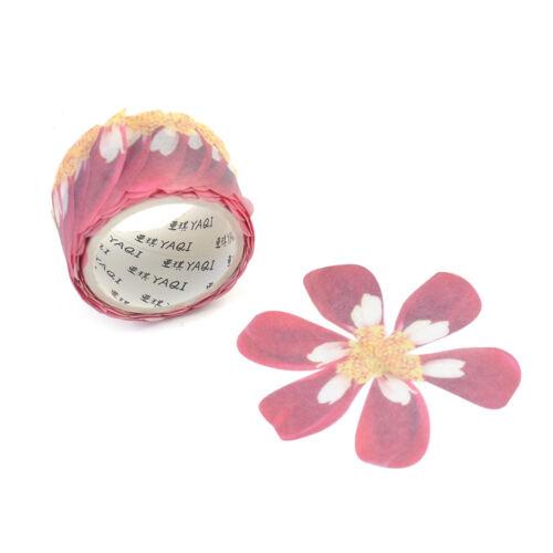 200PCS Flower Petals Sticker Masking Scrapbook DIY Craft Washi Sticky Paper Tape