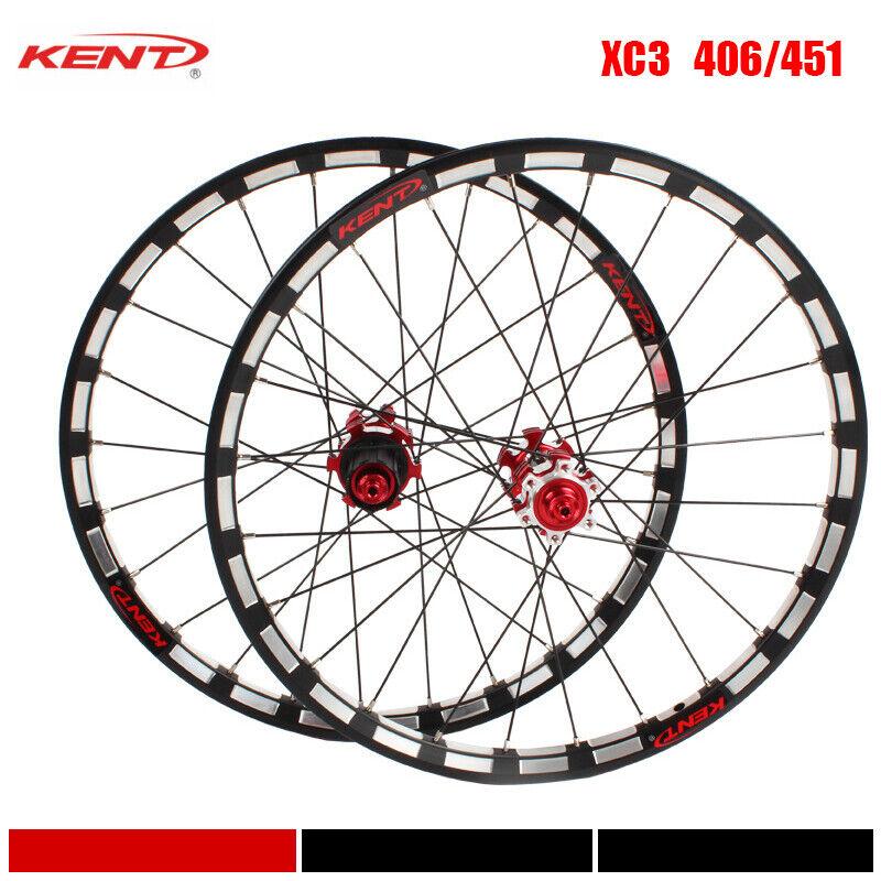 406 451 Folding Road Bike Wheels Straight Pull Hub Wheelset Bearing Rim 8 9 10s