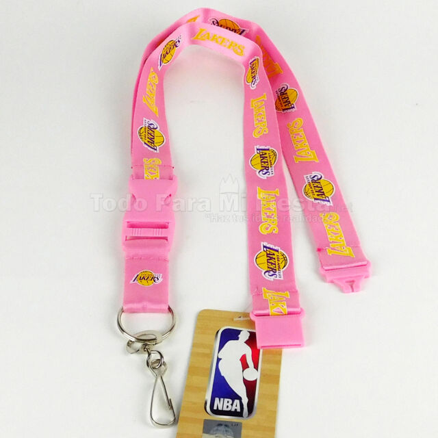 Sport Speciality Pink Basketball Lanyard Pink with White Logo Keychain Holder