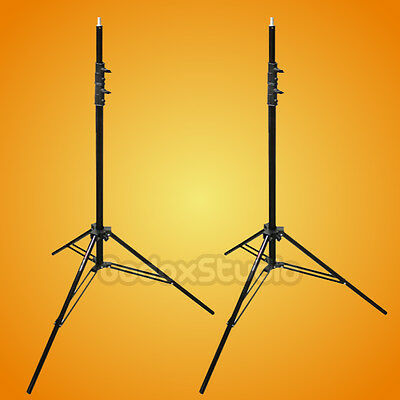 2PCS Victory 303 Aluminum 8.5 Ft / 2.6M Heavy Duty Spring Cushioned Light Stand
