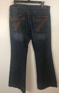 Leg Seven Jeans 7fam 31 Størrelse menneskeheden hele For Frayed 7 Wide Dojo Distressed Flare Zxvzaa
