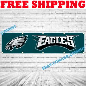 Philadelphia Eagles Banner Flag 2x8 ft 2020 NFL Fan Club Wall Home Decor NEW