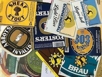 CZECHOSLOVAKIA Lot of 50 beer labels from CZECHOSLOVAKIA!! VERY NICE 007