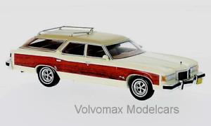 Maravilloso Neo-MODELCAR Pontiac Grand Safari 1976-biancao woodoptic - 1 43 - Ltd.