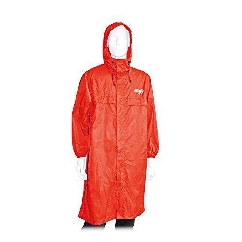 ALTUS atmosferica-Unisex Poncho impermeabile, rosso, taglia M-L
