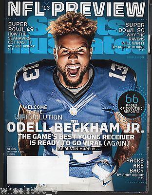 2015 Sports Illustrated New York Giants Odell Beckham Jr Subscription Issue NR/M