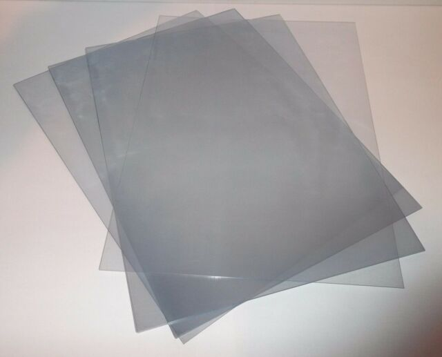 100 A3 Clear Acetate / Plastic Sheets - 250 micron