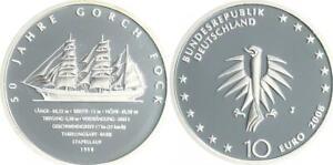 Gorch Fock 2008 Marca Monetaria J Pulida Placa, En Cápsulas de Monedas