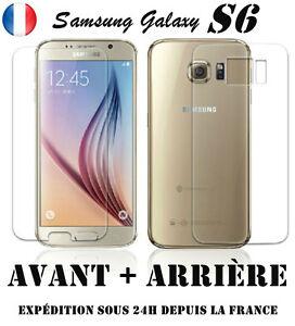 Vitre-film-protection-d-039-ecran-en-VERRE-TREMPE-Samsung-Galaxy-S6-Avant-Arriere