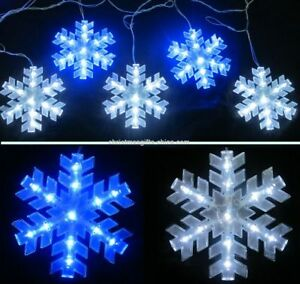 Snowflake Christmas Lights.Details About Super Bright 56 Led 8pcs Snowflake String Christmas Lights 8 Mode Indoor Outdoor