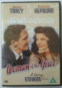 Woman of the Year 1942 Starring Spencer Tracy Katherine Hepburn Region 2 PAL DVD