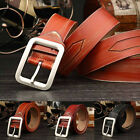 Men's Fashion Leather Belt Vintage Waist Strap Metal Pin Buckle Waistband Casual