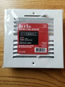 """Everbuilt 6"""" x 6"""" Ceiling And Wall Register"""