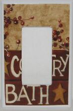 Country Bath Single Rocker Gfi Switch plate  Bathroom