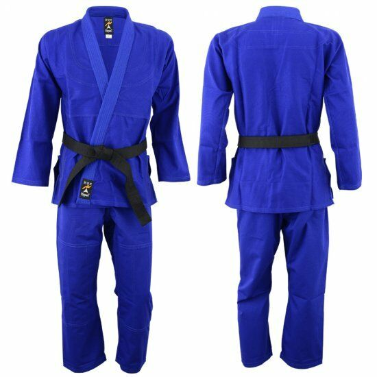 Playwell Pearl Weave BJJ Gi bluee Uniform Martial Arts Ju Jitsu Suit Jiu