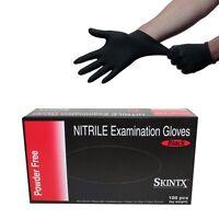 Pro 200pcs Black Nitrile Powder Free Medical Grade Exam Tattoo Gloves Size Picke