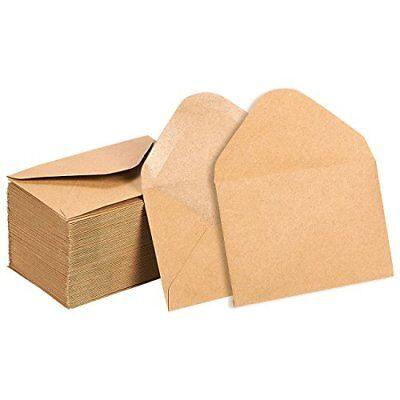 Mini Envelopes 100 Count Gift Card Kraft Paper Business Bulk Tiny Envelope P 713057108321 Ebay
