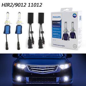 2X-For-Philips-Ultinon-LED-6000K-HIR2-Bulbs-Bombillas-de-los-faros-Dual-Beam