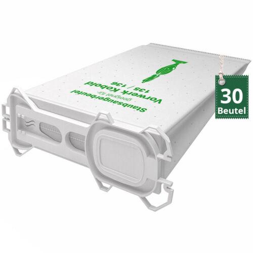 1-30 nappes Sacs pour Aspirateur Filtres Sacs Adapté Pour Vorwerk Kobold VK 135 136