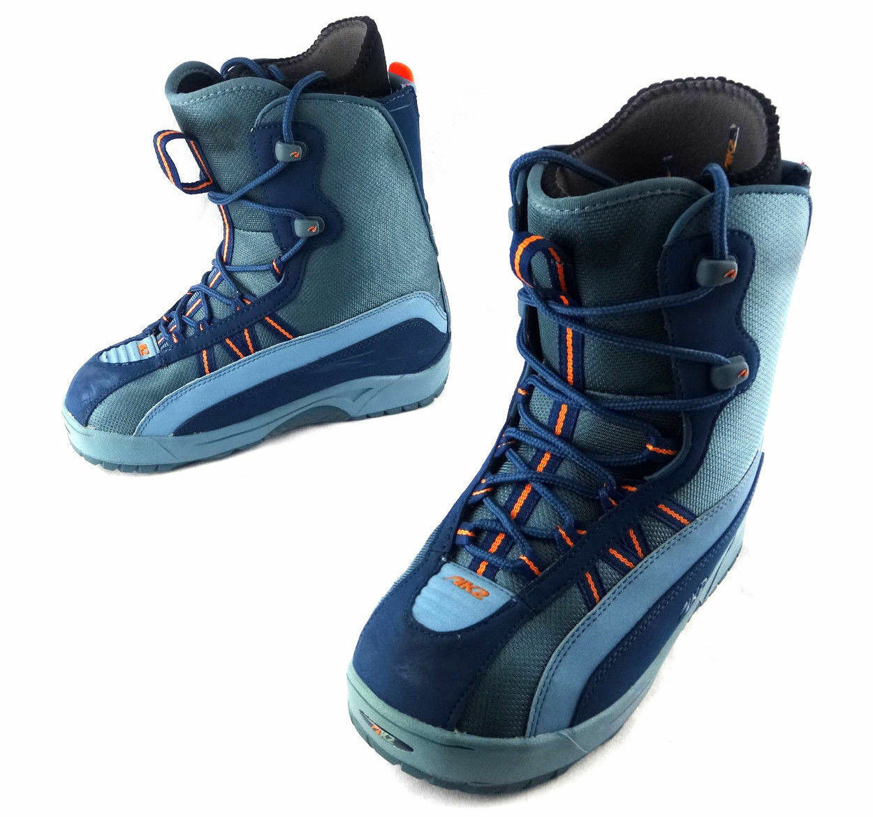 K2 Striker Women's Snowboard Boots color Turquoise Pre-Owned USA Women's Size 9
