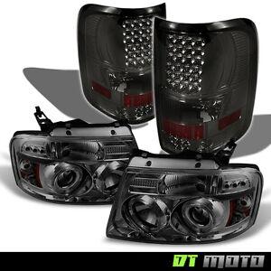 2008 ford f 150 smoke halo projector headlights smo ke led tail lights. Black Bedroom Furniture Sets. Home Design Ideas