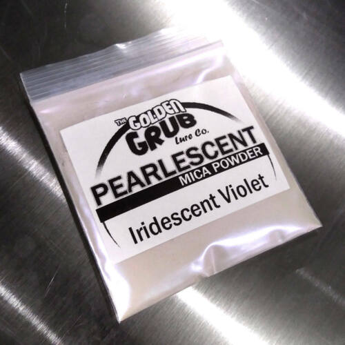 Bi-Color IRIDESCENT VIOLET Pearly Mica Powder Fishing Plastisol NEW 1 OZ