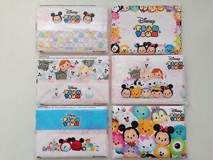 Disney Tsum Tsum Japan Printed Pocket Tissue 9 Travel Packs/ 3 Designs US SELLER