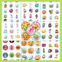 100 Precut Assorted Shopkins Bottle Cap Images Variety 1 Inch Discs Round
