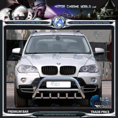 BMW X5 BULL BAR CHROME AXLE NUDGE A-BAR 60mm 2007-2013 S.STEEL ON OFFER NEW