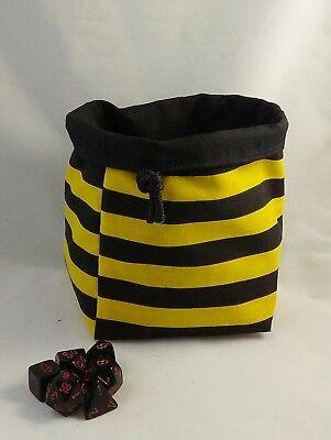 A Righe Bee Dadi Bag-square Base-reversibile Con Coulisse-tile Marsupio Rpg D&d-mostra Il Titolo Originale