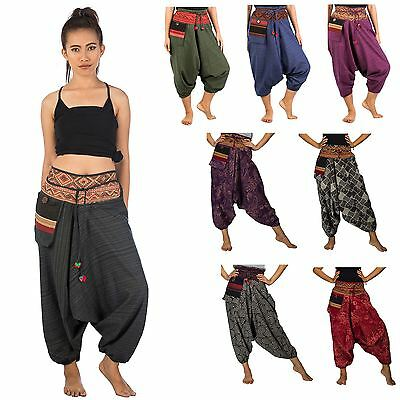 Gypsy Hippie Aladdin Hmong Genie Hammer Baggy Men Women Harem Pants Trousers