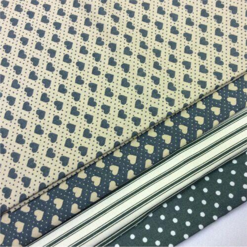 4 Diferentes Diseños 100/% algodón cuarto Gordo Tela poplon Paquete