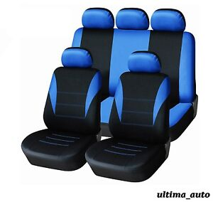 Blue-Car-Seat-Covers-Protectors-Universal-washable-Dog-Pet-full-set-front-rear