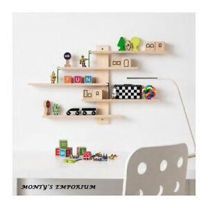 new ikea lustigt wooden children s wall shelf 5 tier ebay rh ebay com children's house wall shelves children's house wall shelves