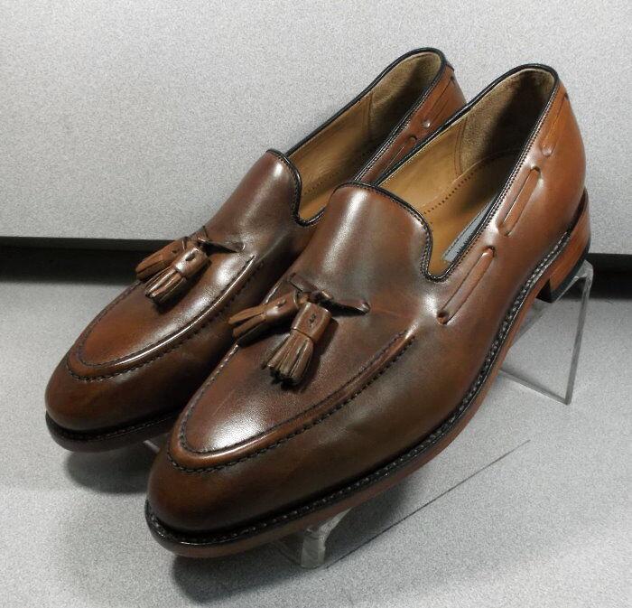 222946 ES50 Chaussures Hommes Taille 8.5 M En Cuir Marron À Enfiler Johnston & Murphy