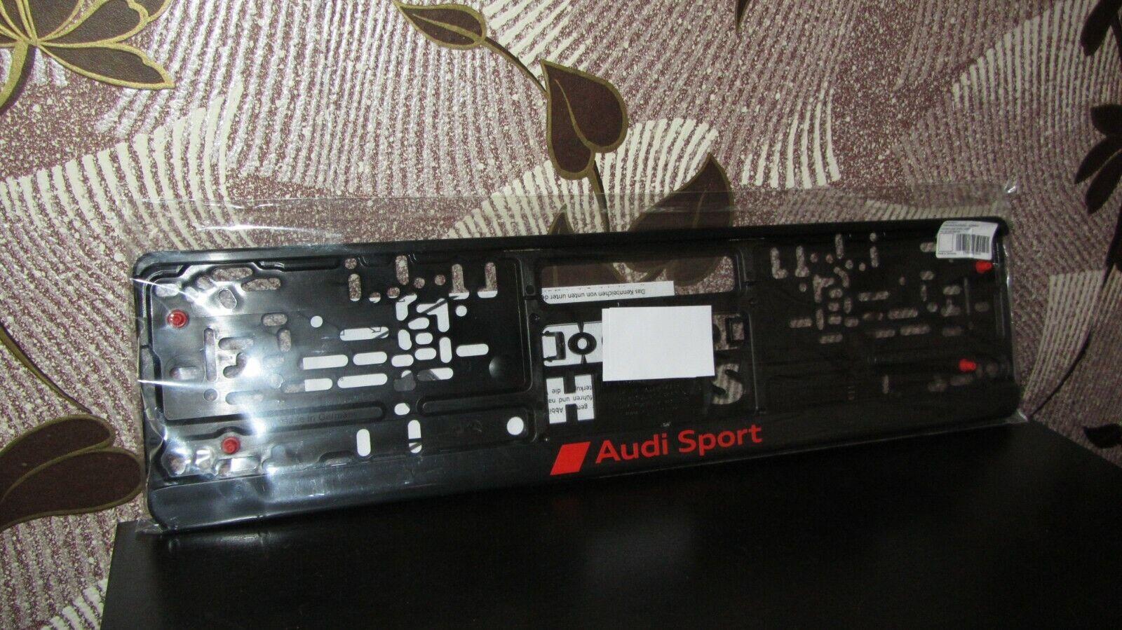 Genuine Audi Sport Number Plate License Plate Holder Frame 3291900100