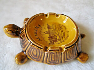 VINTAGE-TURTLE-ASHTRAY-034-ALABAMA-HEART-OF-DIXIE-034-CERAMIC-RETRO