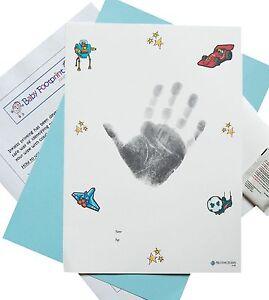 Large BIG GIRLS Inkless Wipe Handprint or Footprint Kit For Big Kids